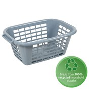 Addis Eco Laundry Basket Light Grey 40ltr (518380)