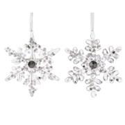 Acrylic Snowflake w Hanger Tranparent 13cm (518578)