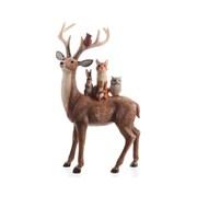 Kaemingk Reindeer W Animals On Back 27cm (535046)