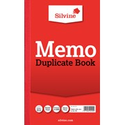 Slvne Memo Duplicate Book 206x127mm (601)