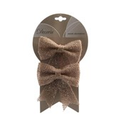 Jute Bow On Wire Natural 13cm (610008)