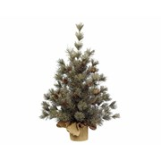 Frosted Mini Tree With Pinecones Green 60cm (681187)