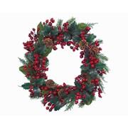 Decorated Wreath Red Glitter 210cm (688365)