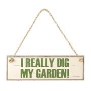 My Garden Sign Cream/green 125mm (690227)