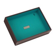 Lc Deep Open Tray Stckr Brwn/teal Lnng (70489)