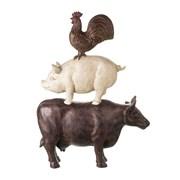 Cow Pig Chicken  Cream/brown 570mm (730303)
