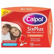 Calpol Sugar Free 6 Plus 12x5ml (75476)
