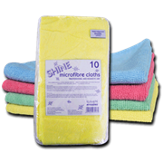 Shine Microfibre Cloths Green 10s (783G)