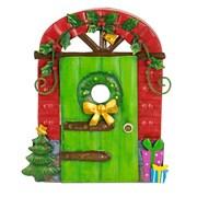 Fountasia Christmas Door - Green/holly (79524)