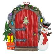 Fountasia Christmas Door - Red/snowman (79525)