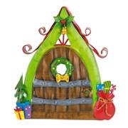 Fountasia Christmas Door - Wooden/sack (79526)