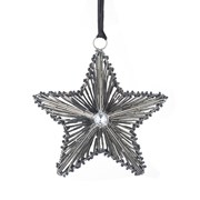Beaded Hanging Star Deep Silver D160mm (810604)