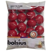 Bolsius Floating Candles Wine Red 20s (103632053744)
