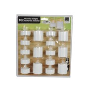 Battery Operated Flickering Tealights 16s (06181)