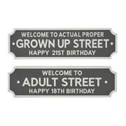 Lang Birthday Street Sign Asstd (8PT190)