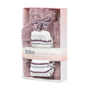 Totes Isotoner Ladies Furry Hot Water Bottle & Sock Gift Set (9146A)