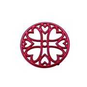 Apollo Mini Round Red Trivet (9293)