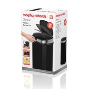 morphy richards Chroma Sensor Bin Black 42lt (971502)
