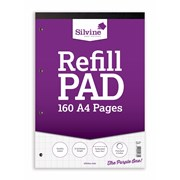 Silvine Refill Pad Graph 160 Pages A4 (A4RPG)