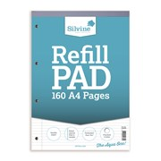 Silvine Nrw/fnt/mrgn Refill Pad 80l A4 (A4RPNM)