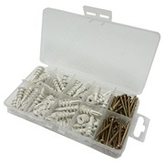 Fix&fasten Self Drilling Nylon Cavity Wall Fixings Set 100s (ABX028)