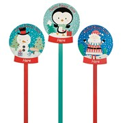 Santa And Friends Wooden Stakes (AC162347)