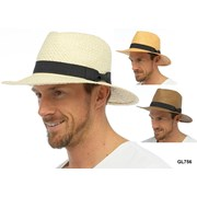 Adults Straw Hat With Band (GL756A)