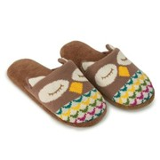 Aroma Home Knitted Adult Slippers Owl (OWL-A-04)