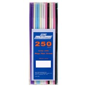 Caterpack Mega Flexi Straws Assorted Colours 250s (RY3881)