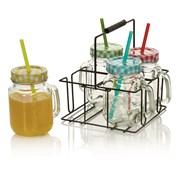 Setx4jam Jar Drinking Glasses With Straw (BA161213)