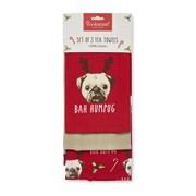 Cooksmart Bah Humpug Tea Towels 3pk (9867)