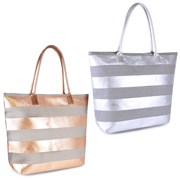 Paperstraw Metallic Striped Bag (BB0988A)