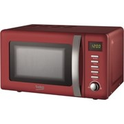 Beko Retro 800w Microwave Red 20l (MOC20200R)