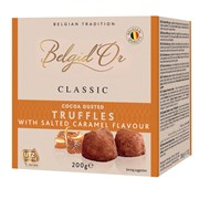 Belgi d'or Belgian Cocoa Dusted Truffles Salted Caramel 200g (BE12)