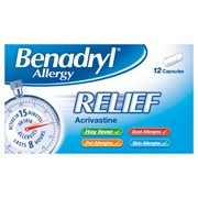 Benadryl Allergy Relief 12s (75462)