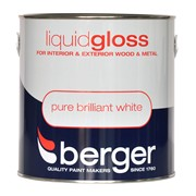Berger Liquid Gloss Brilliant White 2.5lt (5026128)
