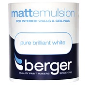 Berger Matt Emulsion Brilliant White 1lt (5020264)