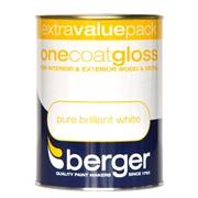 Berger One Coat Gloss Brilliant White 1.25lt (5026240)