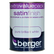 Berger Satin Brilliant White Gloss 1.25lt (5026262)