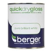 Berger Quick Dry Gloss White 750ml