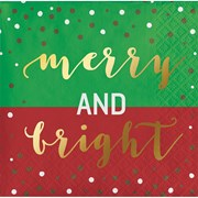 Beverage Napkins Merry & Bright 16s (PC338997)
