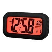 Black Rubber Lcd Alarm Clock (14523)