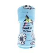 Printed Blanket Blue Hummingbird 200cm (BLM192951)