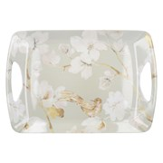 Creative Tops Ct Duck Egg Floral Lux Handled Tray Large (C000309)