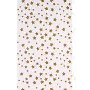 Printed Tissue Stars Gold 5 Sheet (C180)