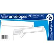 White Peel & Seal Envelope Dl 50s (C504)