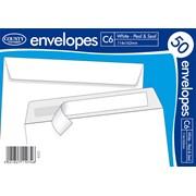 White Peel & Seal Envelope C6 50s (C516)