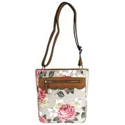 Floral Canvas Cross Body Bags Asstd (CAL-53126)