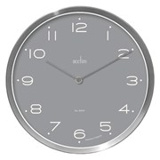 Carrie Metal Wall Clock Grey 26cm (29487)