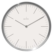 Carrie Metal Wall Clock Silver 26cm (29482)